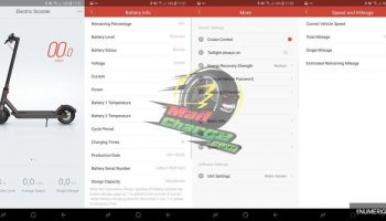 Xiaomi M365 APP settings