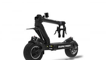 dualtron x fron tire folded 2